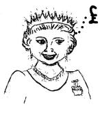 Queen pound sign